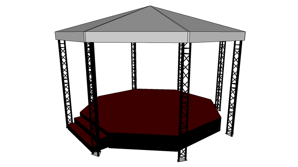 Bandstand Hire 1 - 7.5m x 7.5m